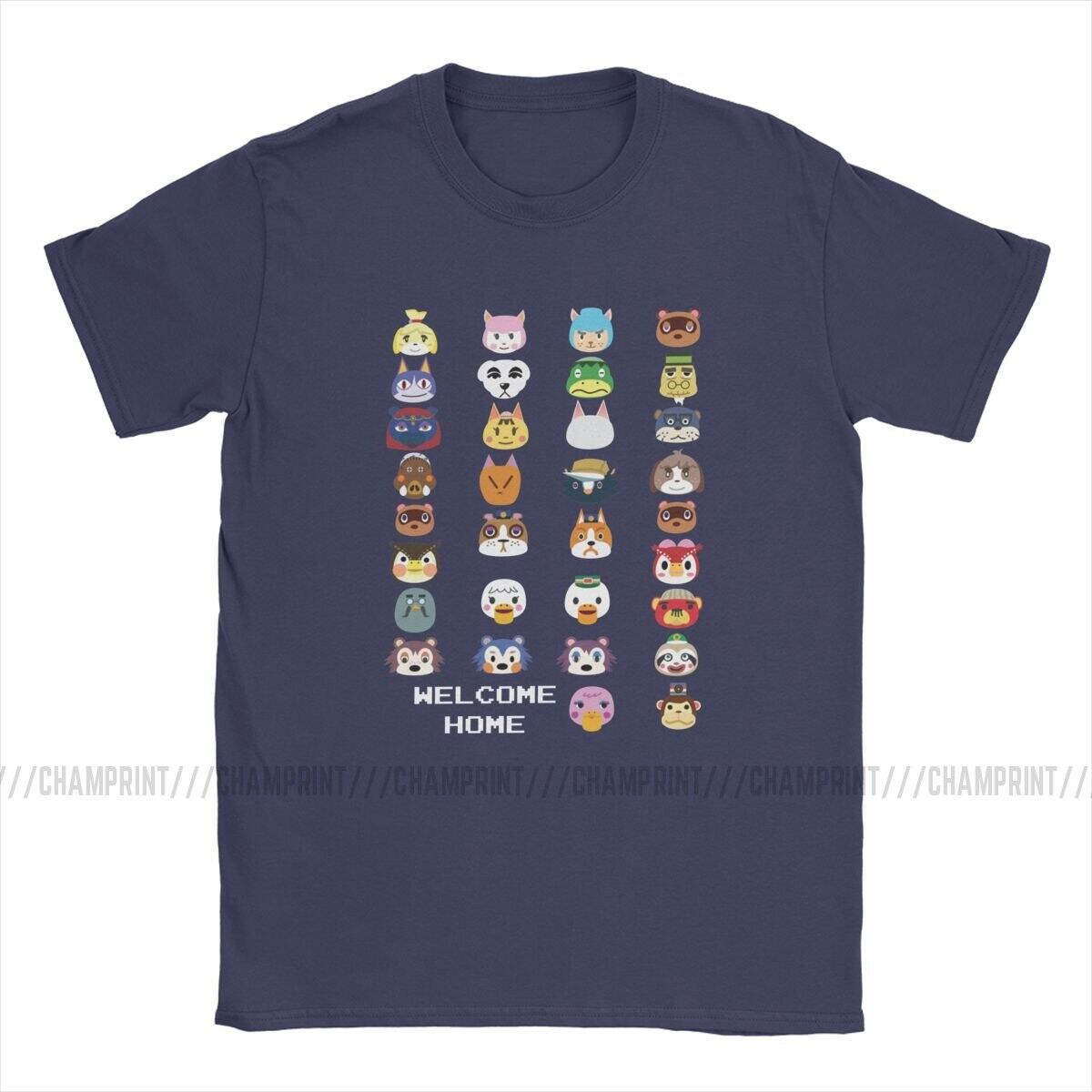 Welcome Home Animal Crossing Icons Shirt, Sky Blue / L
