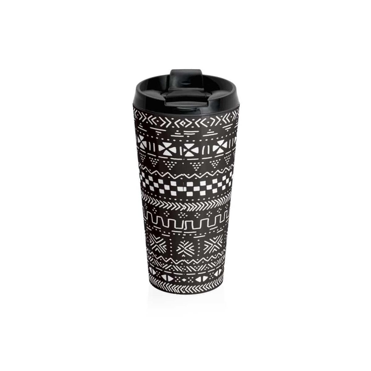 Tribal African Stainless Steel Travel Mug