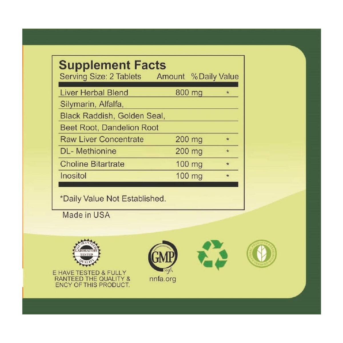 Esmond Natural: Pro Liver (Supports Liver Function), GMP, Natural Product Assn Certified, Made in USA-80 Tablets