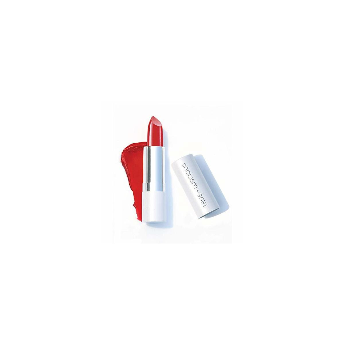 Super Moisture Lipstick by True + Luscious - Clean Formula, Smooth and Hydrating - Vegan and Cruelty Free Lipstick, Non Toxic and Lead Free Shade: Uptown Red - 0.12 oz