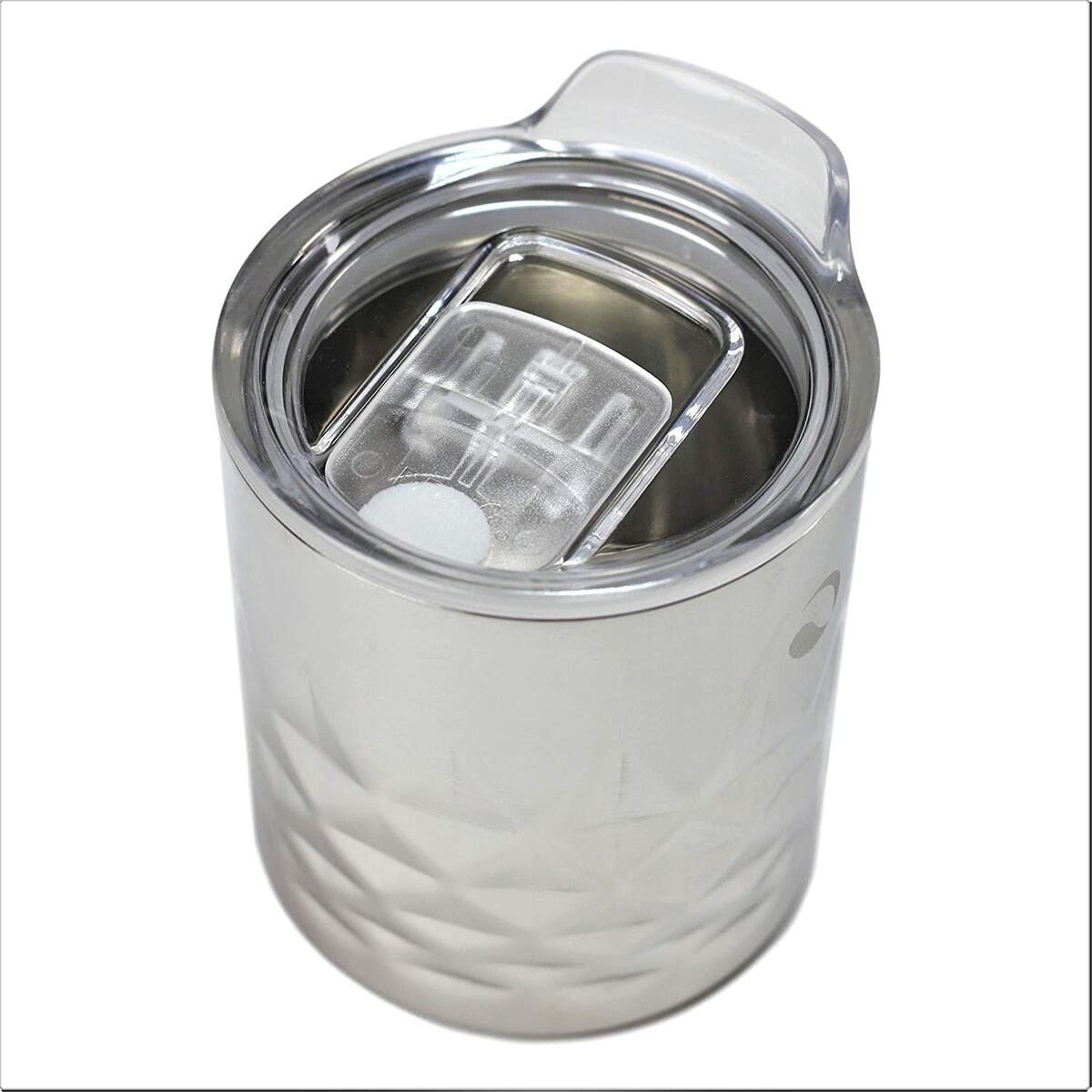 DRINCO- 10oz Stainless Steel Tumbler, Vacuum Insulated Tumbler Whiskey Glass, Rocks Glass, GULT (10oz Whiskey Tumbler, Diamond)