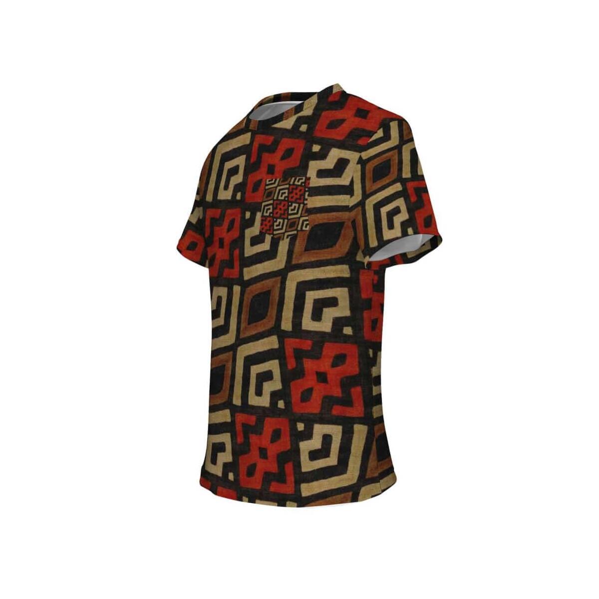 Bogolan Mystic Red Pocket T-shirt, S