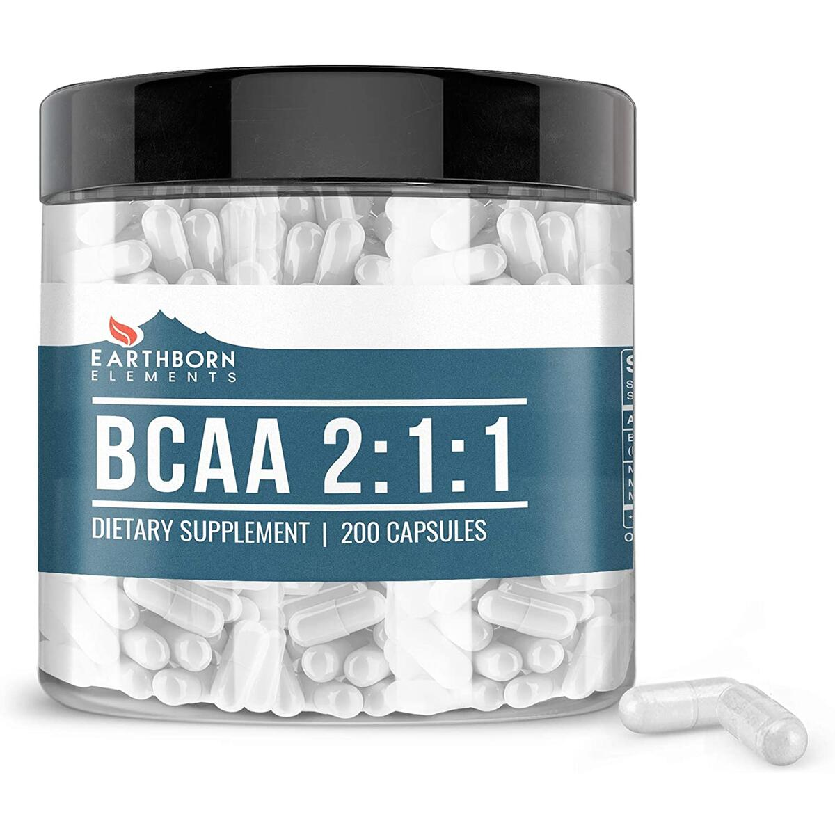 BCAA, 200 Capsules, 1200mg Serving, 2:1:1 Ratio, Naturally Sourced, No Magnesium or Rice Fillers, Non-GMO, Made in USA, Gluten-Free, Paleo & Keto Friendly, Lab-Tested, Satisfaction Guaranteed