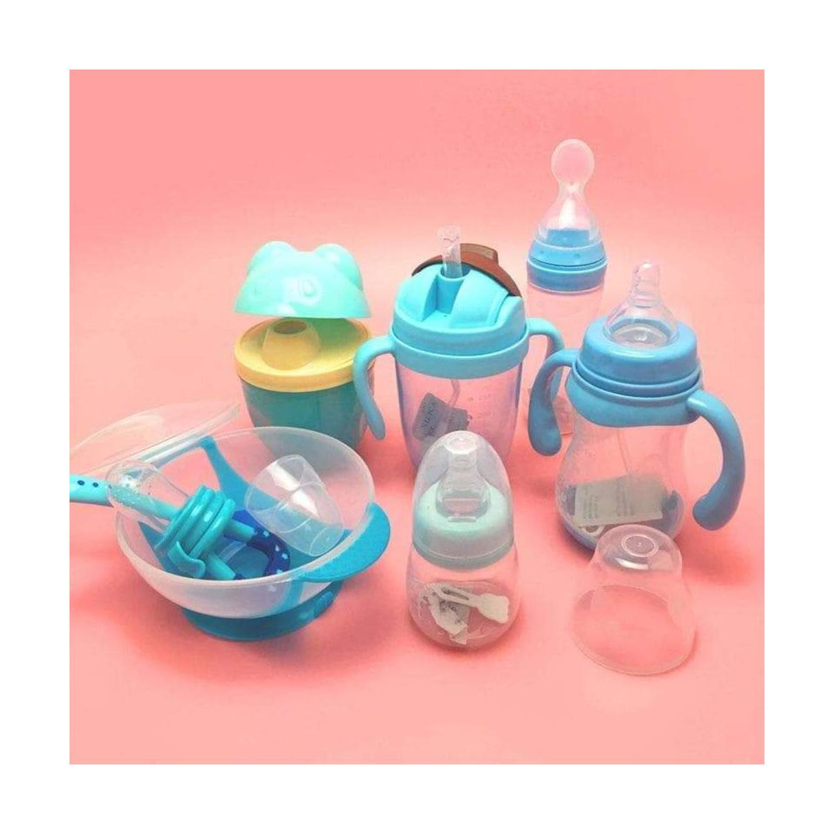 7 in 1 Baby Suction Silicone Baby Feeding Set  BPA-Free, First Feeding