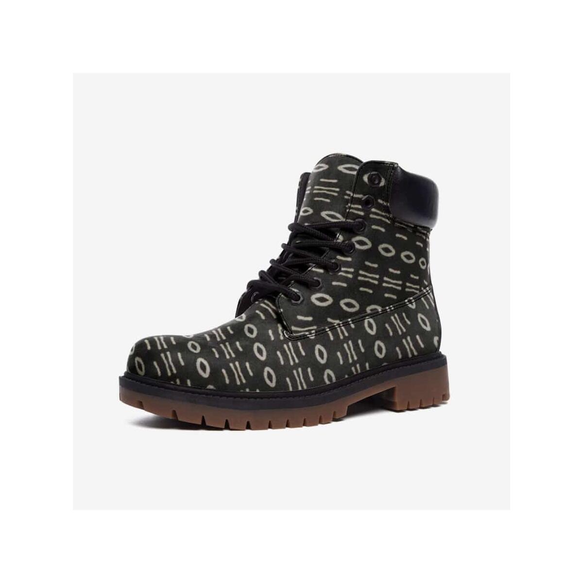 Bogolan B W Cauris Leather Lightweight boots TB