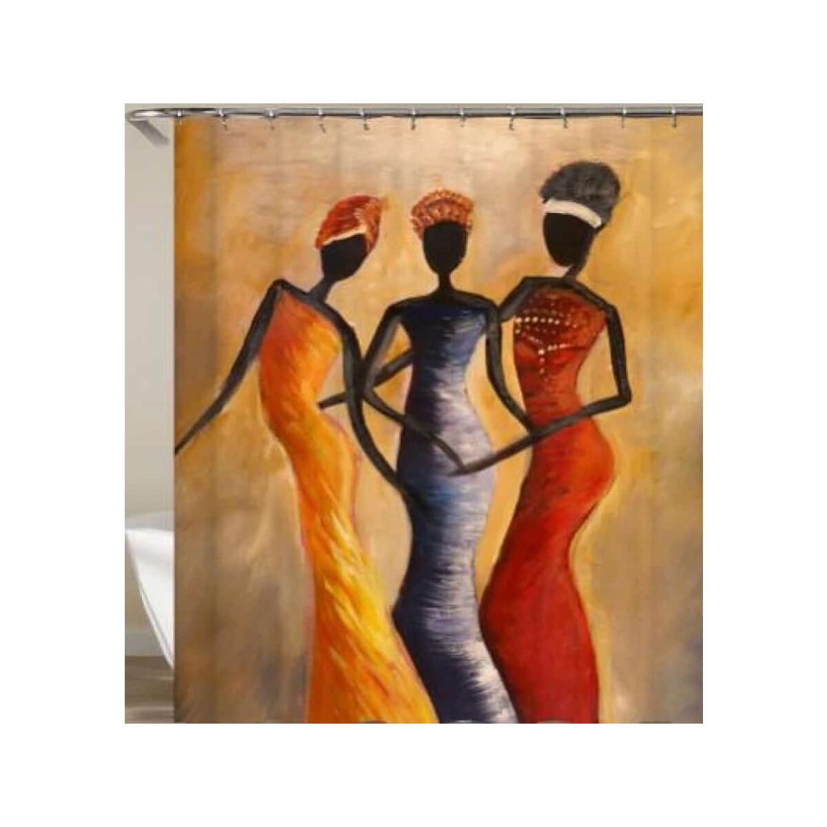 African Queen shower curtain