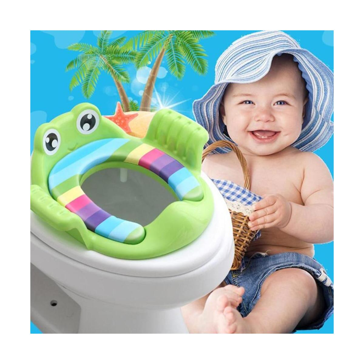 Frogy Baby Potty Training Seat Children's Potty With Adjustable Ladder Infant Baby Toilet Seat Toilet Training Folding Seat