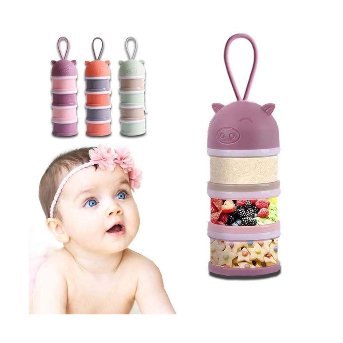 Portable Detachable  Baby Food Storage Box Essential Cereal Cartoon Milk Powder Boxes Toddle Kids Formula Milk Container