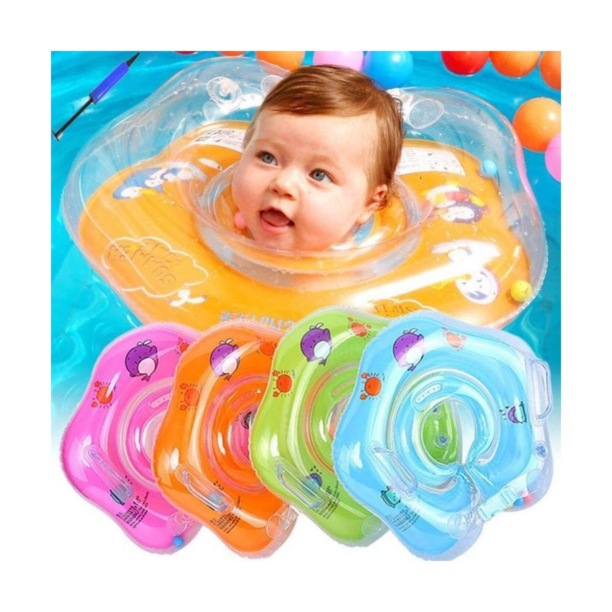 Inflatable Circle Newborn Neck Float Infant Baby Swimming Swim Ring float Safety