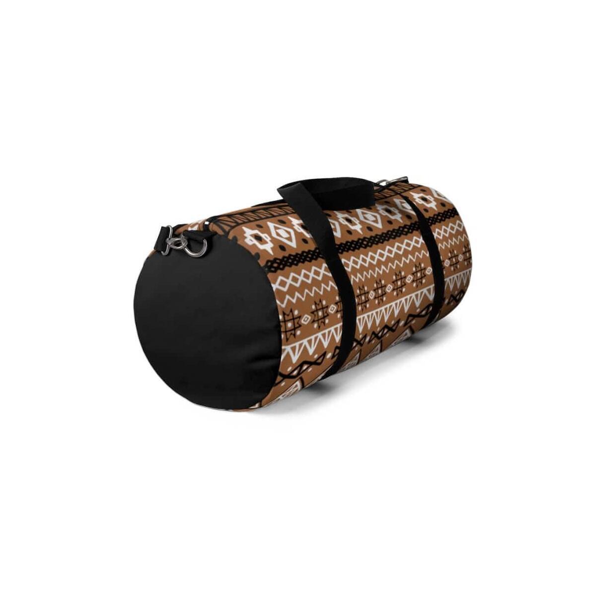 Brown African Mud cloth Duffel Bag