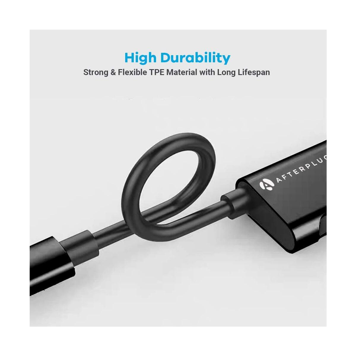Afterplug 2-in-1 Type C Splitter, Dual USB-C Headphone and Charger Adapter, 60W PD Fast Charging for 2018 2020 iPad Pro, Nintendo Switch Lite, Samsung S20 Ultra S10 S9 Note10, Google Pixel and More