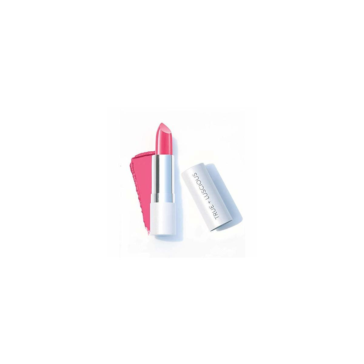Super Moisture Lipstick by True + Luscious - Clean Formula, Smooth and Hydrating - Vegan and Cruelty Free Lipstick, Non Toxic and Lead Free Shade: Candy Pink - 0.12 oz