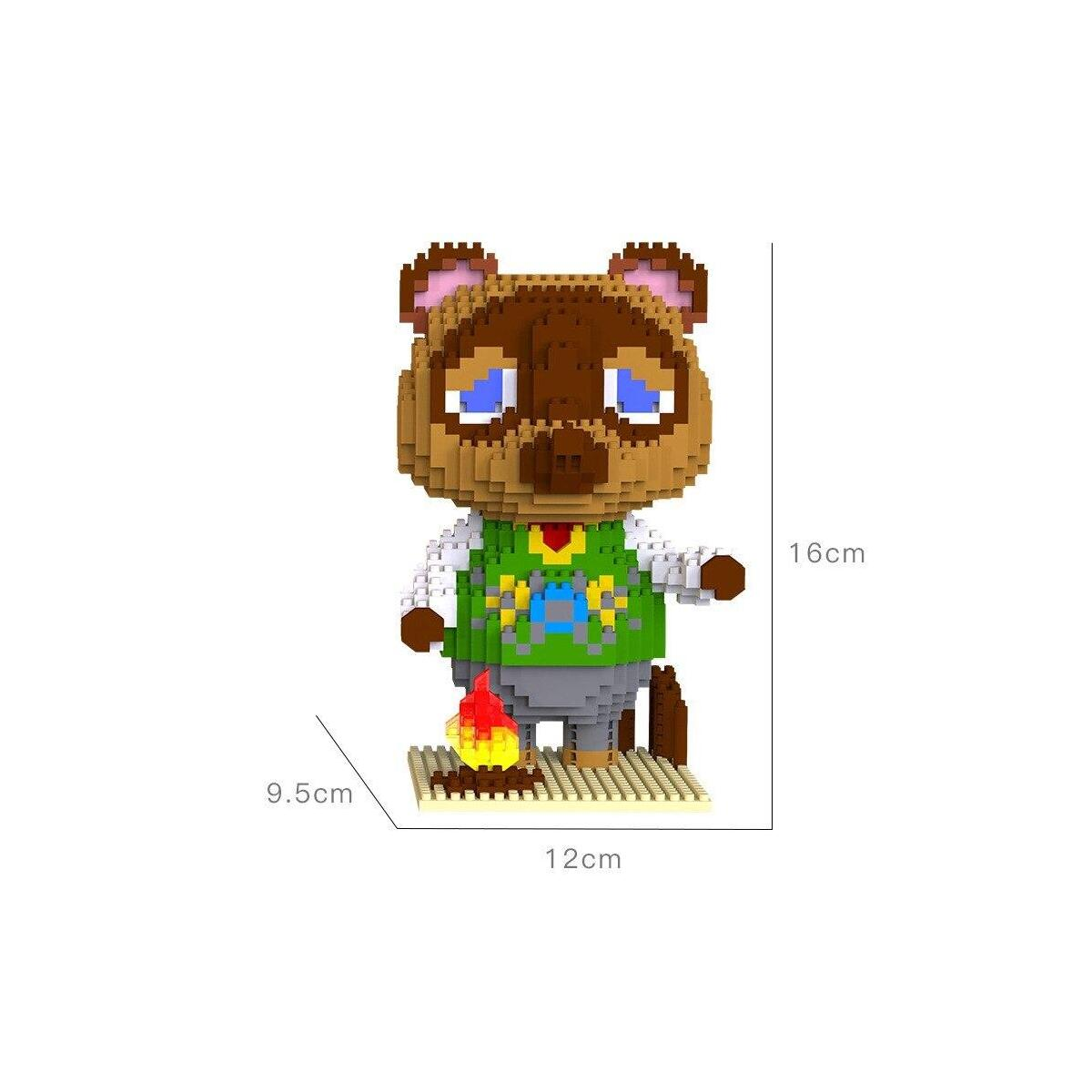 Animal Crossing Tom Nook and Isabelle Lego Style Building Block Set 1224pcs+, 6004-1 / 6in