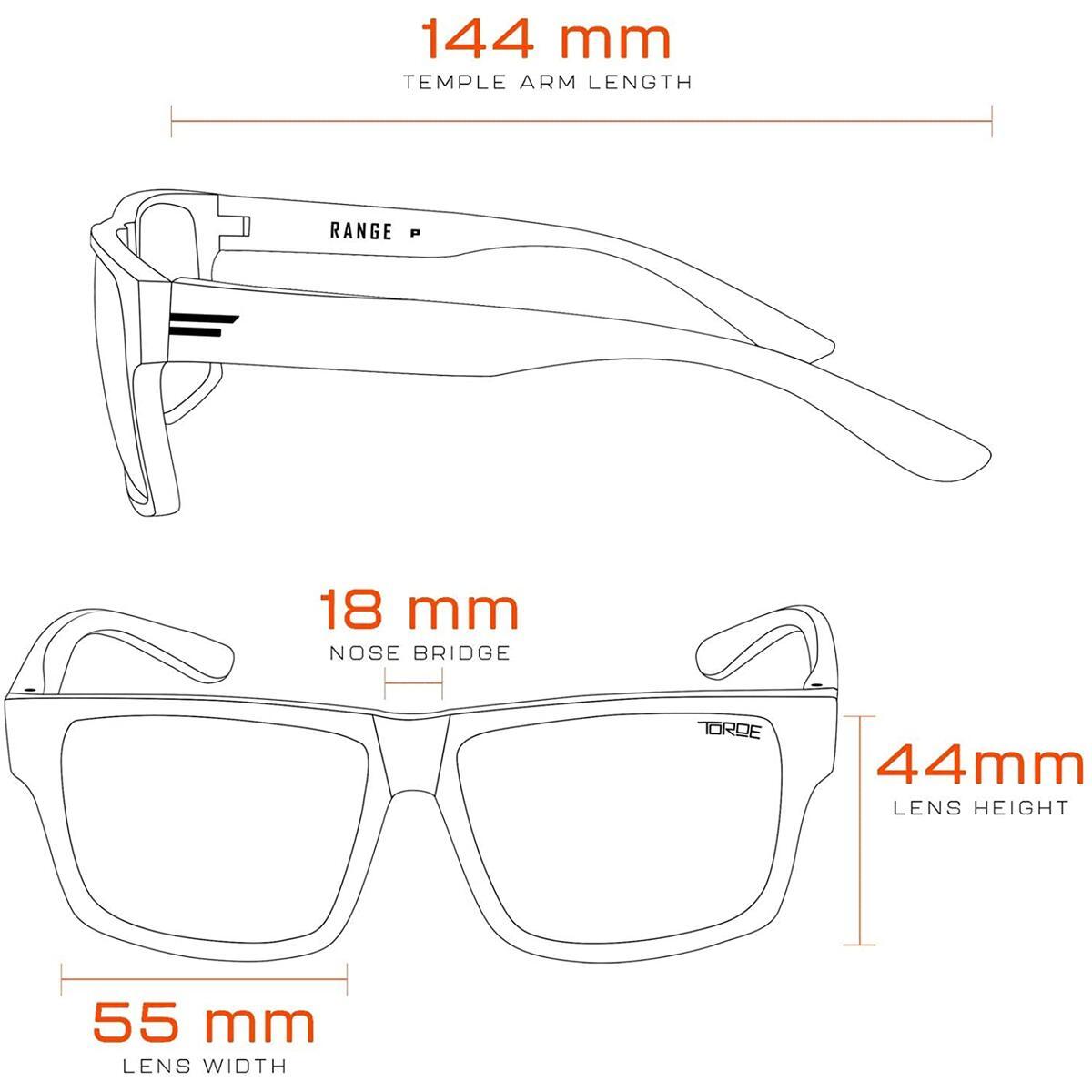 TOROE Classic RANGE Black Frame Polarized TR90 Unbreakable Sunglasses with Hydrophobic Coated Polycarbonate AR Lenses