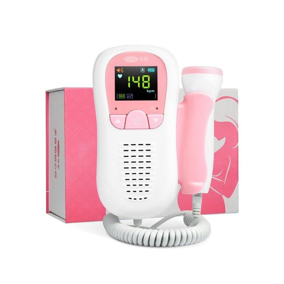 Baby Doppler Portable Heartbeat Monitor Fetal Sound Heart Rate Detector LCD Display No Radiation