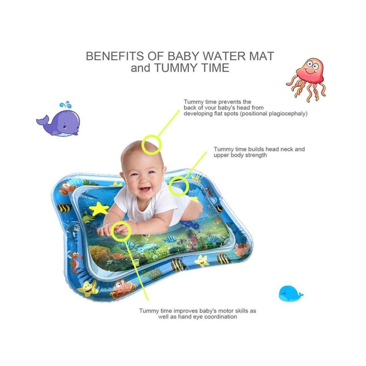 Tummy Time Baby Inflatable  Water Mat Infant Toy Inflatable Play Activity Mat