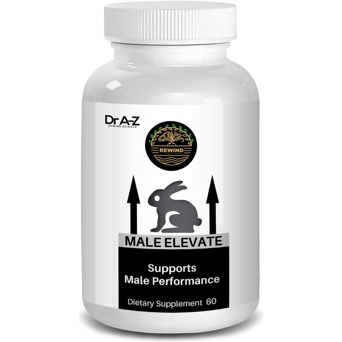 Male Enhancement Supplement Elevate Energy Booster Dietary Supplement - Male Enhancement Pills, Helps Restore Libido , Drive JR Power by Dr A-Z - 60 Capsules