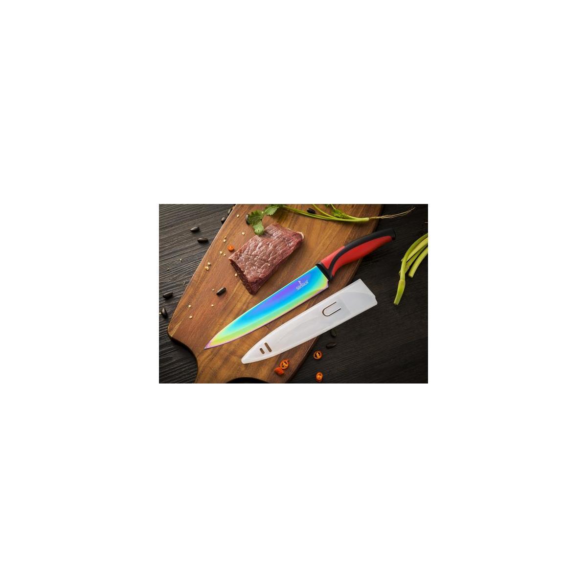 Rainbow Titanium Coated Knife Set
