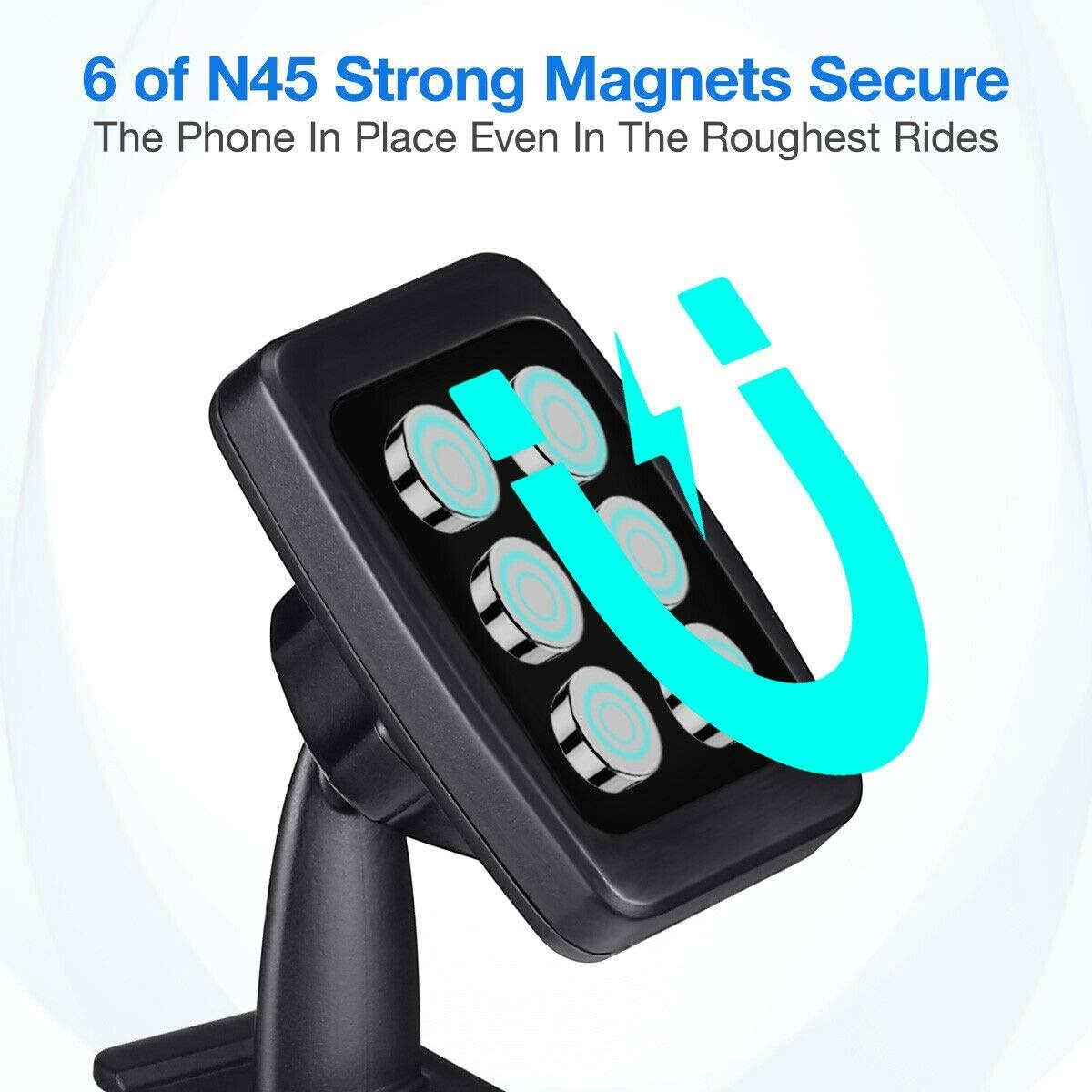 Dashboard Magnetic Phone Holder Car Mount Stand for Apple Android Universal