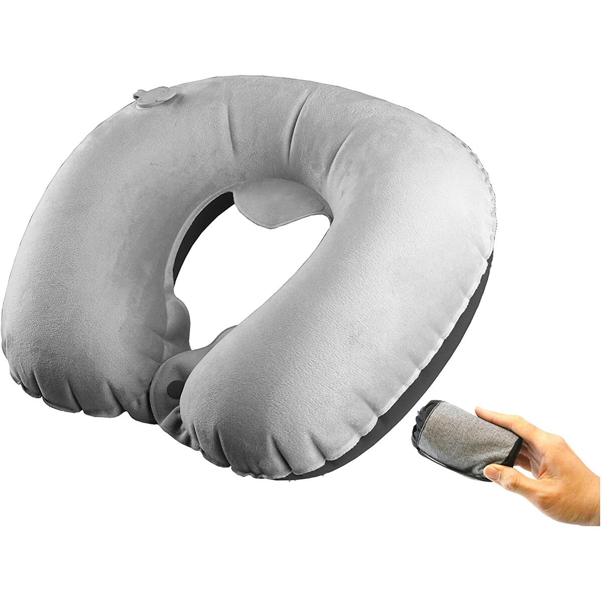 Inflatable Neck Pillow (Black Only)