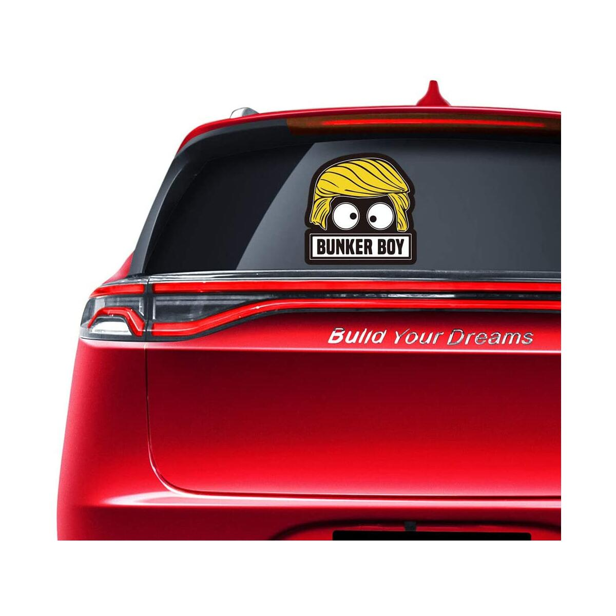 Funny Bunker Boy Trump Sticker - 2 Sets Humorous Anti Trump Bumper Stickers for Laptop Cars Truck Window Wall Home Yard Signs 2020 10''x10''