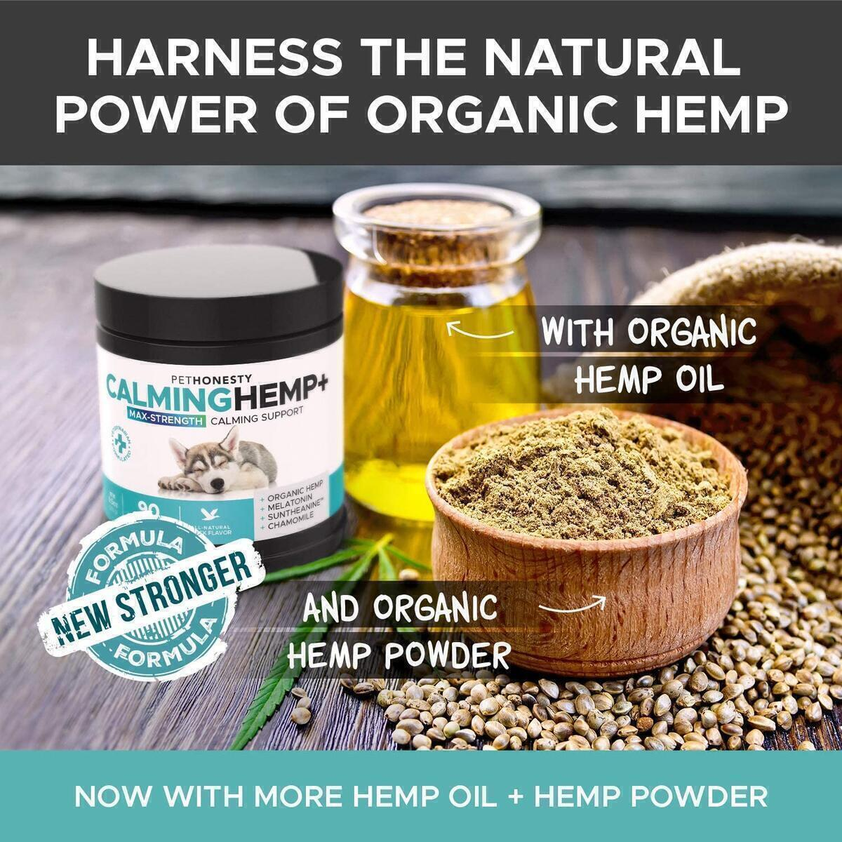 PetHonesty Calming Hemp + (Maximum Strength Calming Support)