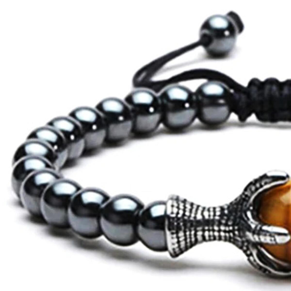 Stress Relief Hematite Charm Bracelet Feng Shui Wealth Chakra Stone Natural Energy Tiger Eye Healing Crystal Set Mens Beaded Bracelets Yoga Jewelry Shungite Ying Yang Gemstone