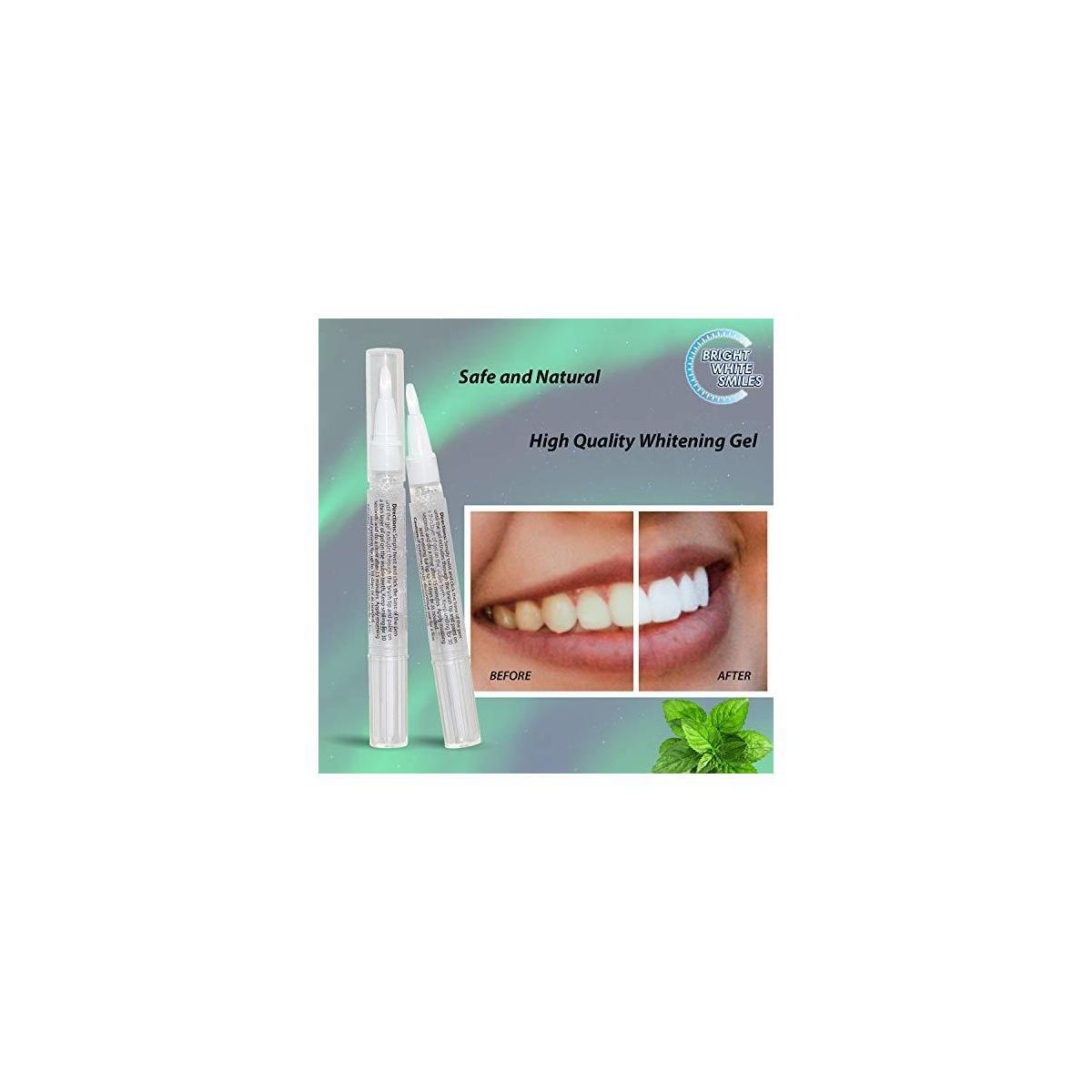 Bright White Smiles Teeth Whitening Pen, 35% Carbamide Peroxide, Manufactured in USA, 2cc Whitener Kit, Storage Tube Included