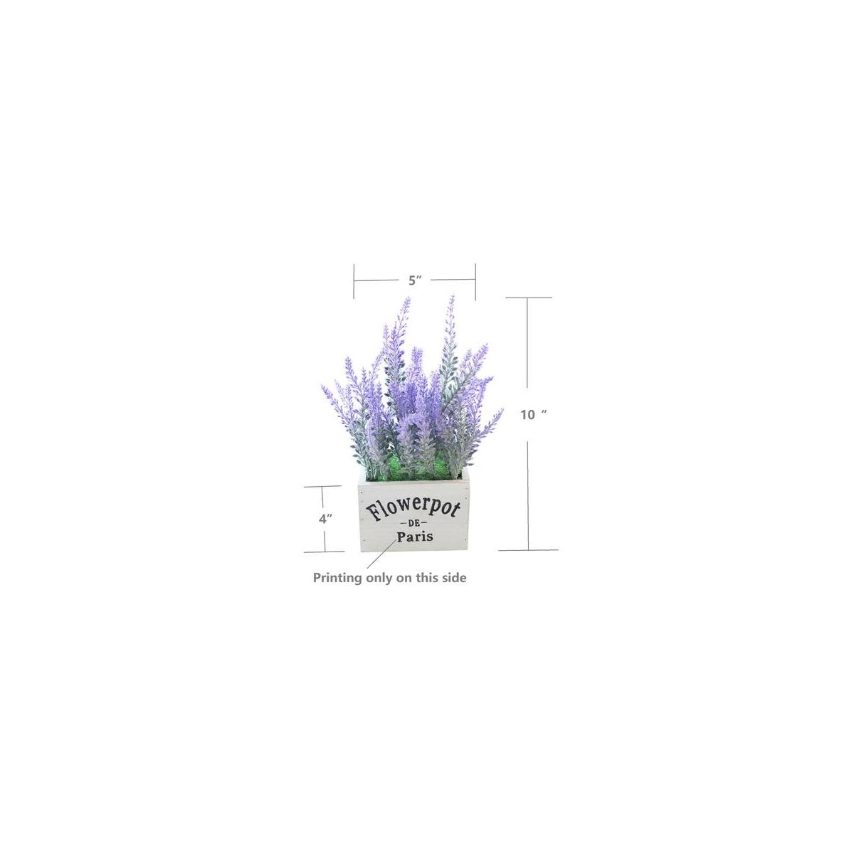 Butterfly Craze Artificial Lavender Plant with Silk Flowers for Wedding Decor and Table Centerpieces (Lavender w/White Pot Set of 2)…