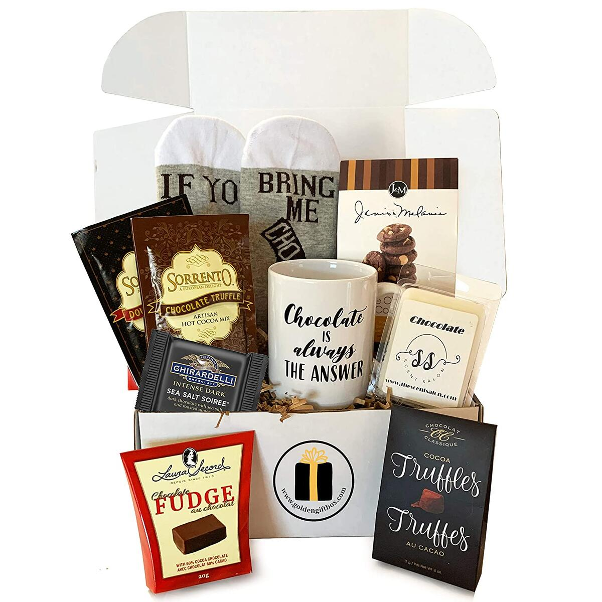Gourmet Chocolate Gift Sets, Gourmet Cocoas, Chocolate Cookies, Truffles and Ghirardelli