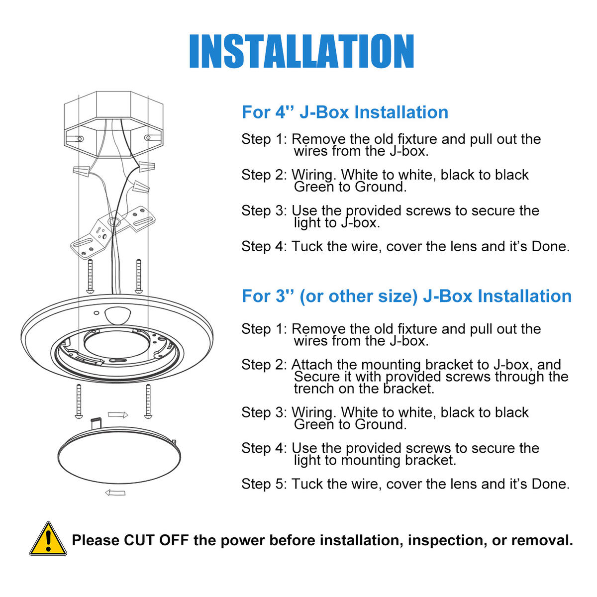 Guarantled Closet Motion Sensor Light Indoor, 6-7/8 Inch LED, 10W=60W 3000K/4000K/5000K in 1, Bronze Motion Sensor Activated Ceiling Light, Install to J-Box, No Battery, for Closet,Pantry, Damp Rated