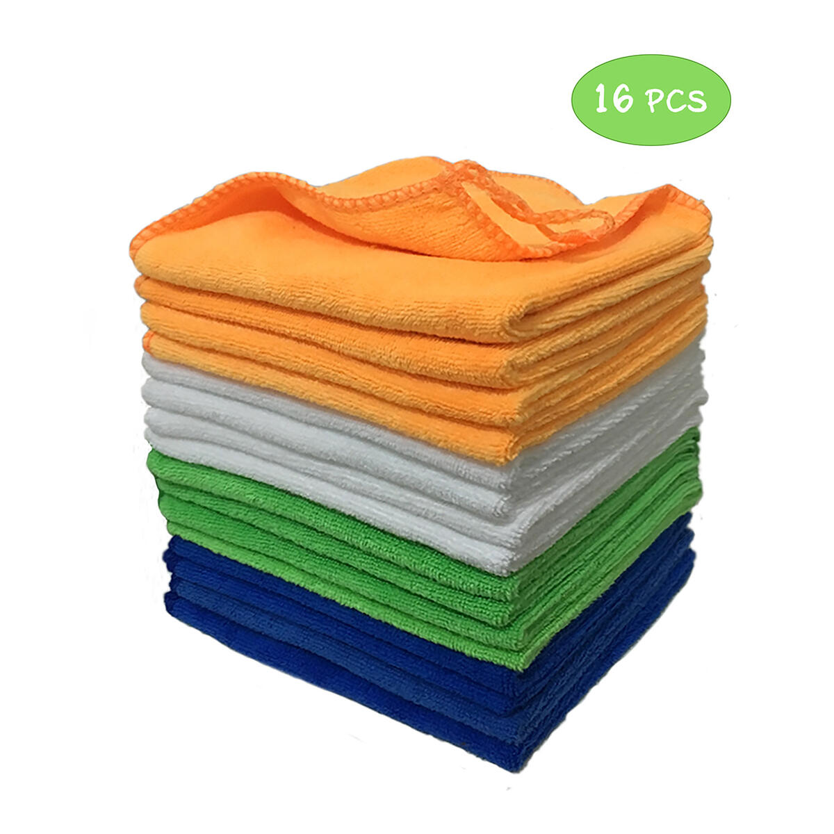 16 PCS Microfiber Cleaning Cloth 4 Colors 12 x 12 in Dish Cloths Soft Highly Absorbent Cleaning Towels Rags for House Kitchen Car Window