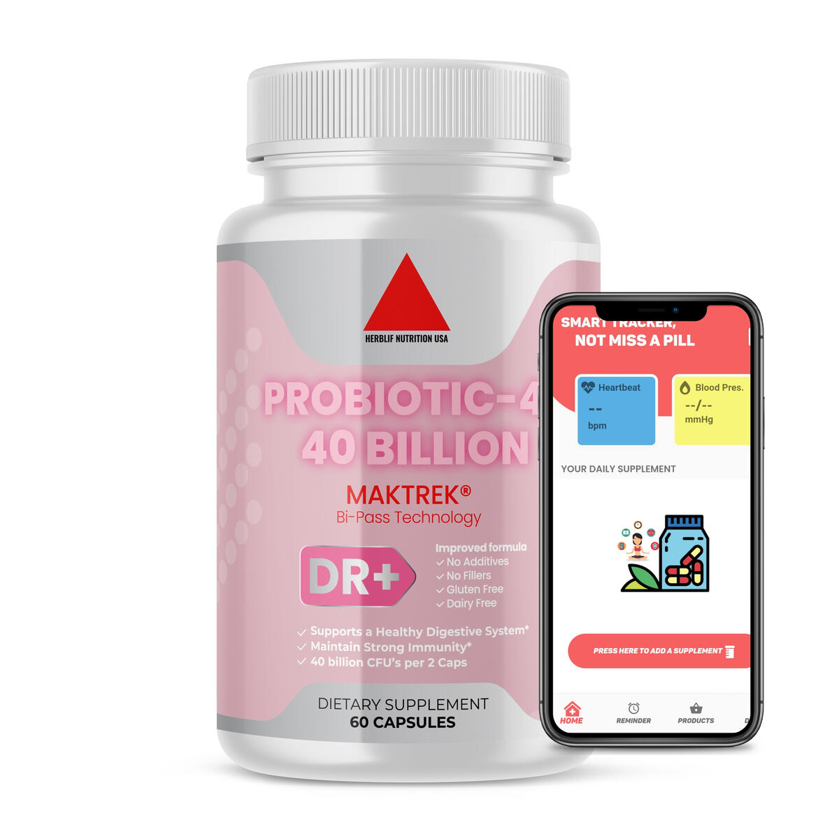 Probiotic 40 Billion CFU - Dr. Approved Probiotics for Adults with 13 Powerful Strains & Natural Prebiotics - Patented Shelf Stable Probiotics for Women - Lactobacillus Acidophilus