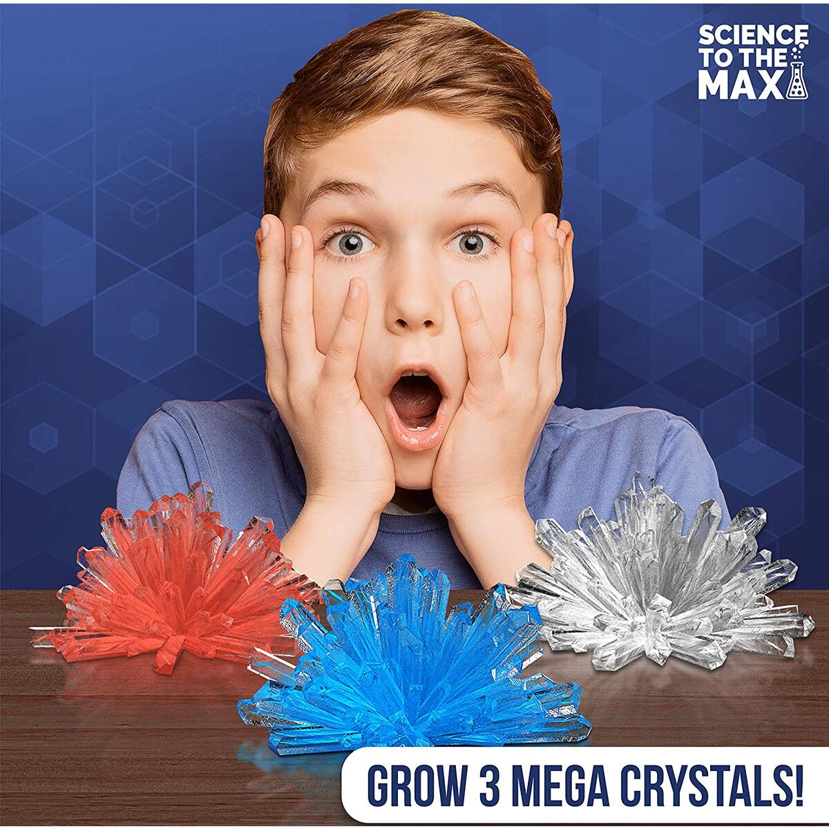 Crystal Growing Kit for Kids - 3 Display Colossal Crystals Domes