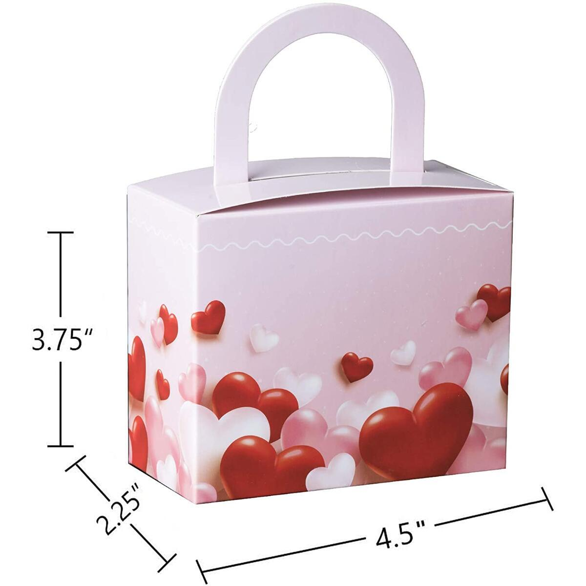 "Hammont Valentine's Day Candy Boxes - 18 Pack - Colorful Party Favor Treat Boxes with Sturdy Handle - Perfect for Valentine's Day, Wedding Favors, Celebrations | 4.5"" x 3.75"" x 2.25"""