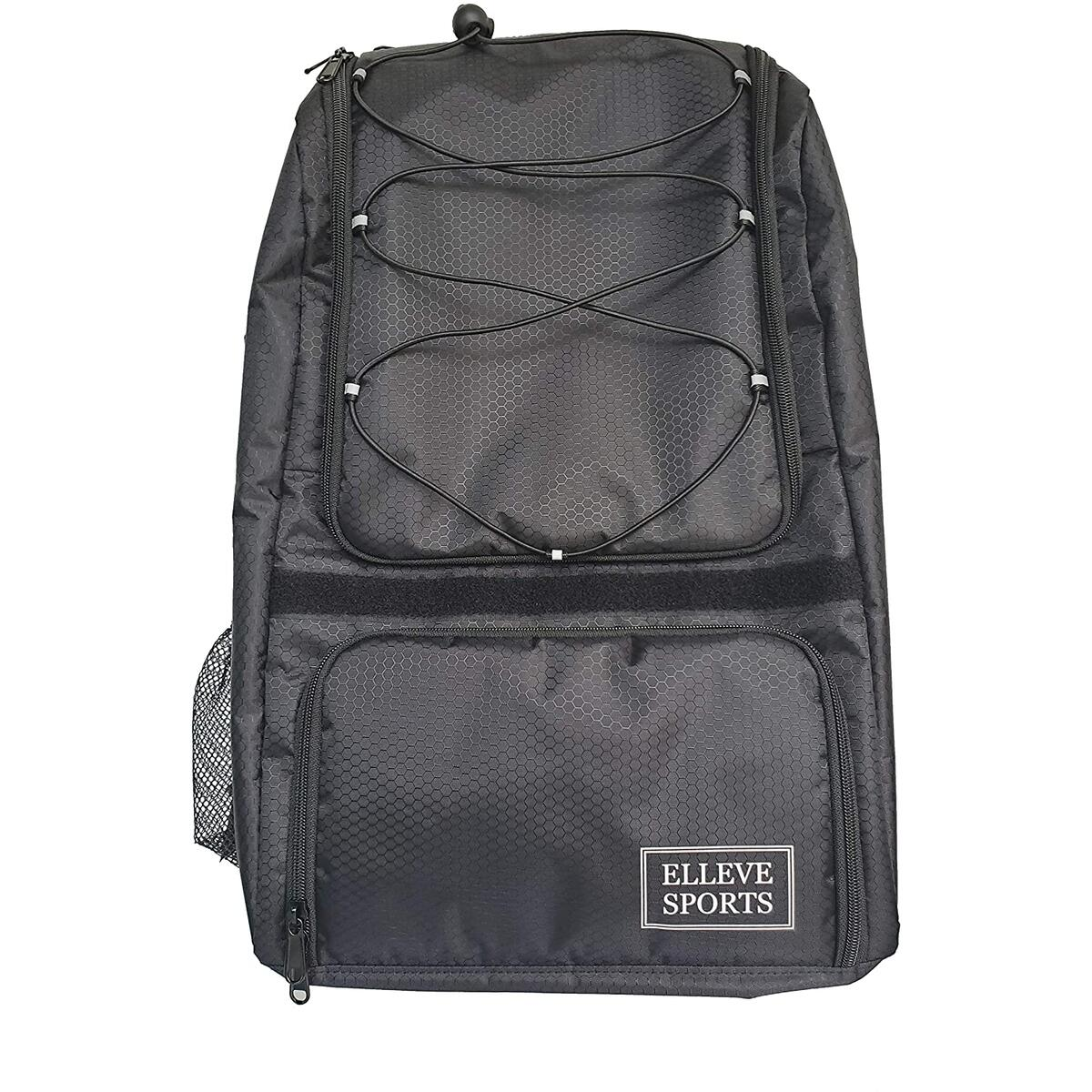 Elleve Sports Black GAME READY Youth & Adults Bat & Equipment Backpack Bag 2020