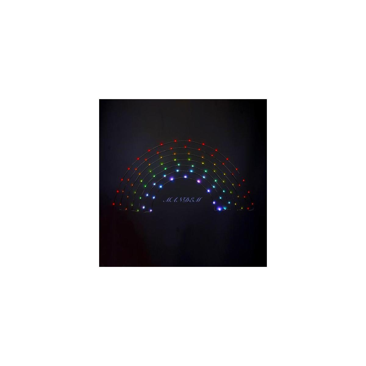 LED Fairy String Lights USB Powered, App Controlled Rainbow Color Changing Sync to Music with Timer