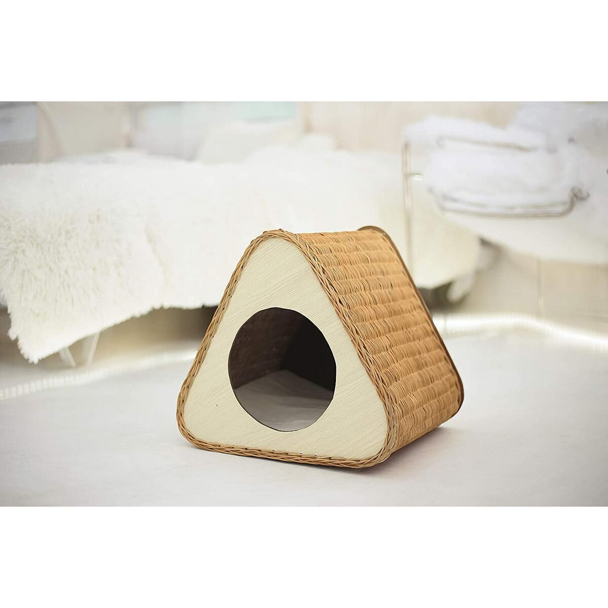 Kordes Cozy Wicker Cat Bed - Rattan Cat House - Perfect Scratching Post - Cat Cave