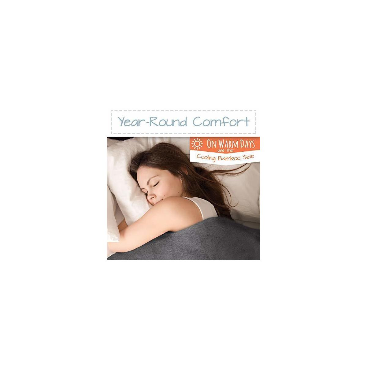 Active Corner Cozy Mill 25 lb Weighted Blanket   80