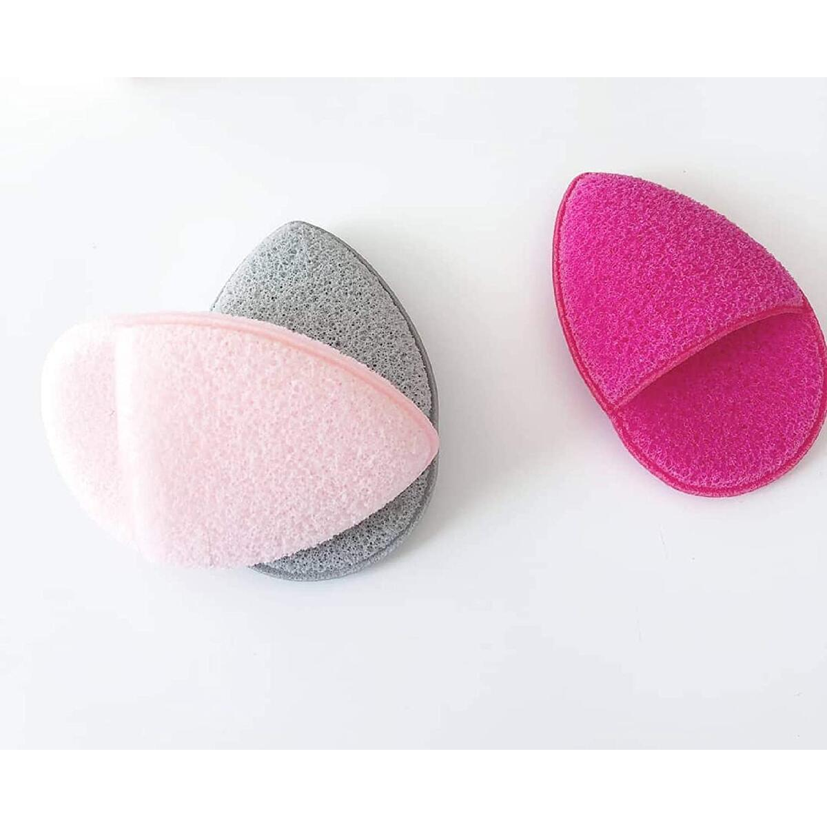 Arie Beauty Exfoliating Bath Sponge for Facial Cleansing -  Reusable Body Sponges For Silky Smoth Skin - 3-Pack for Daily Use 3.75