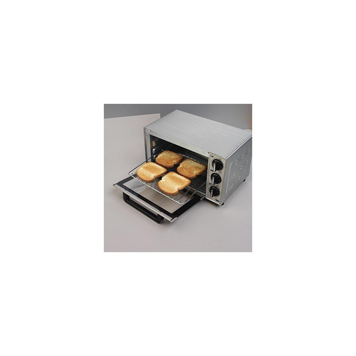 Hamilton Beach 31401 Toaster Oven, Pizza Maker, Large Capacity, Stainless Steel (STYLE: Toast, Bake, and Broil)