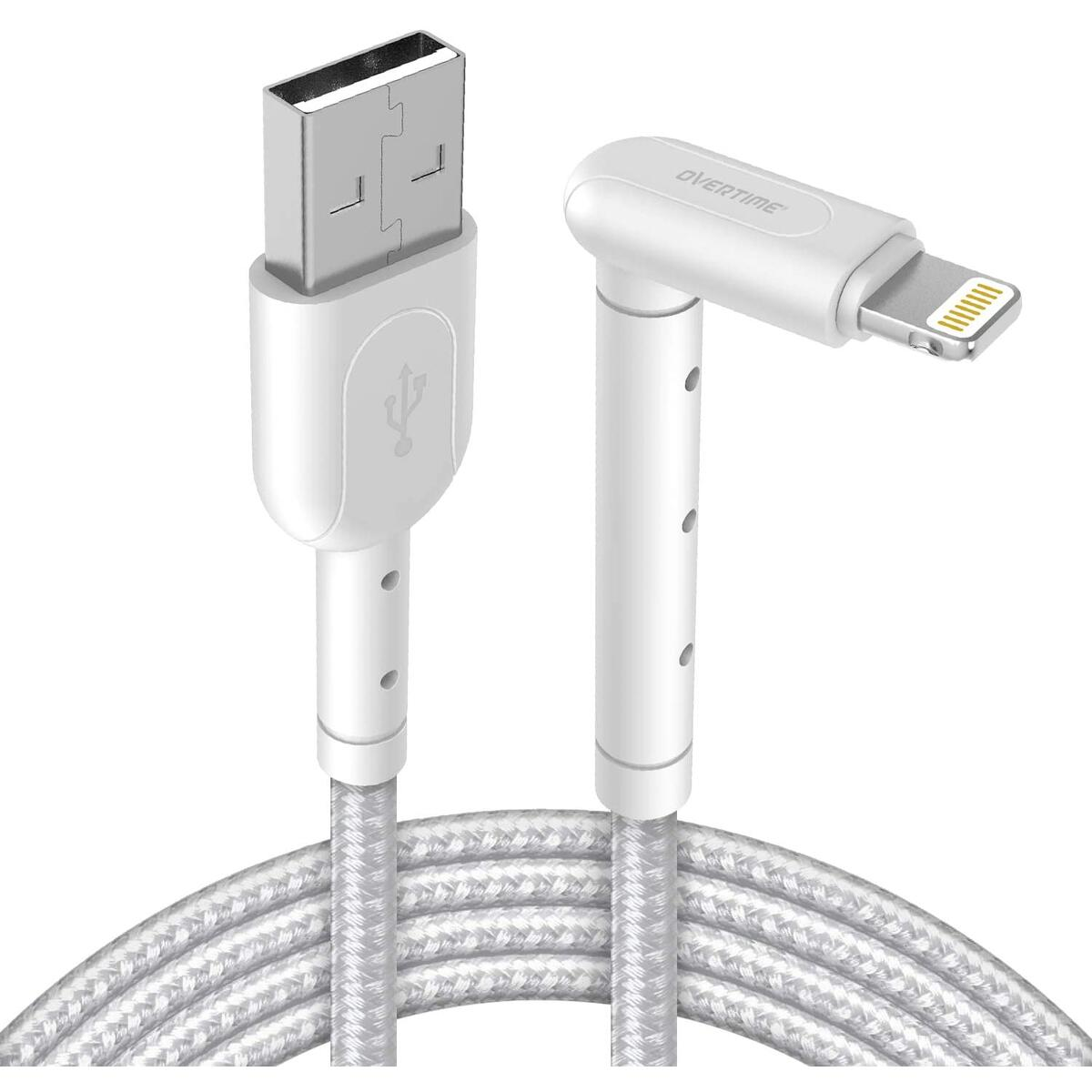 iPhone Charger w/ Built-In Stand, 6ft Apple MFi Certified Lightning Cable, Braided Nylon, 1 Pack, 6 feet - Gray
