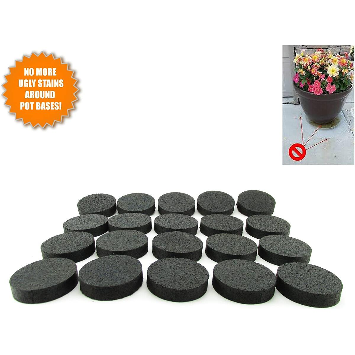 Flower Pot Feet, Invisible Flower Pot Risers, Rubber Risers for Plant Pots - 20 or 8 Pc (20)