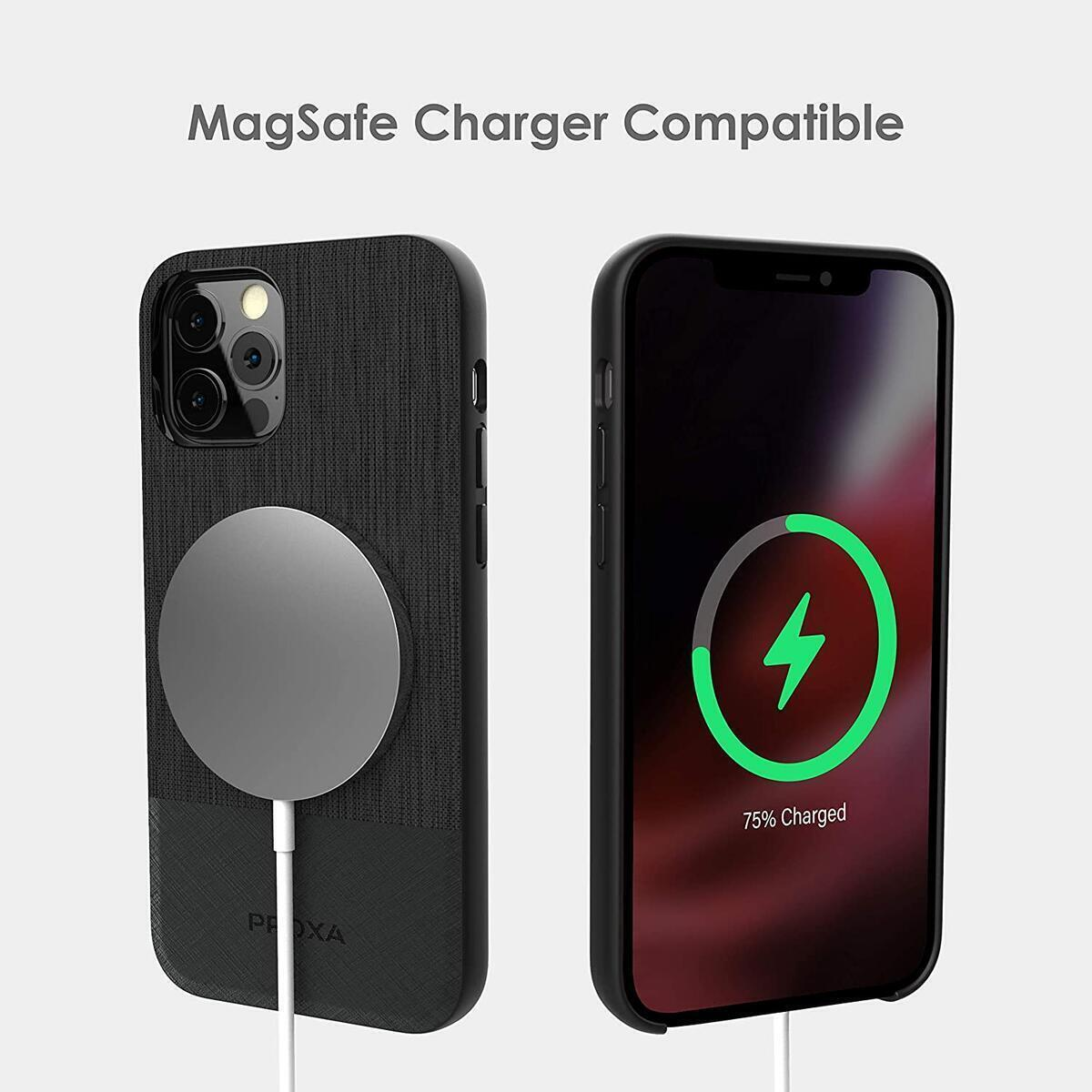 PROXA Magnetic Wireless Car Charger with 6.7 inch Case Designed for iPhone 12 Pro Max[MagSafe Compatible]&Dual Installation Mount&Dual Port QC 3.0 Car Adapter-Compatible with iPhone 12 Pro Max
