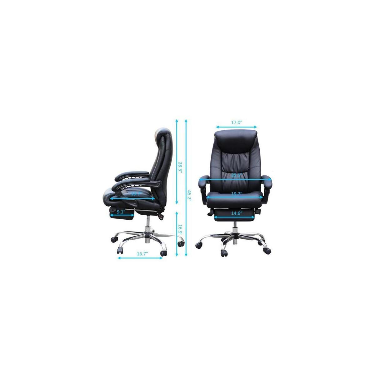 Duramont Reclining Office Chair With Lumbar Support High Back Executive Chair Cashback Rebate Rebatekey