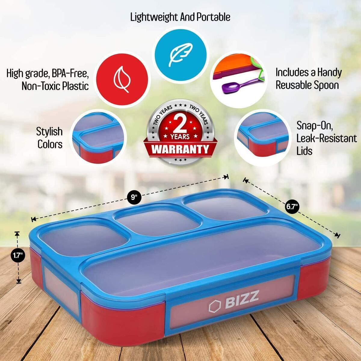 Bent Boxes - Lunch Boxes - Spoon included - 2pk