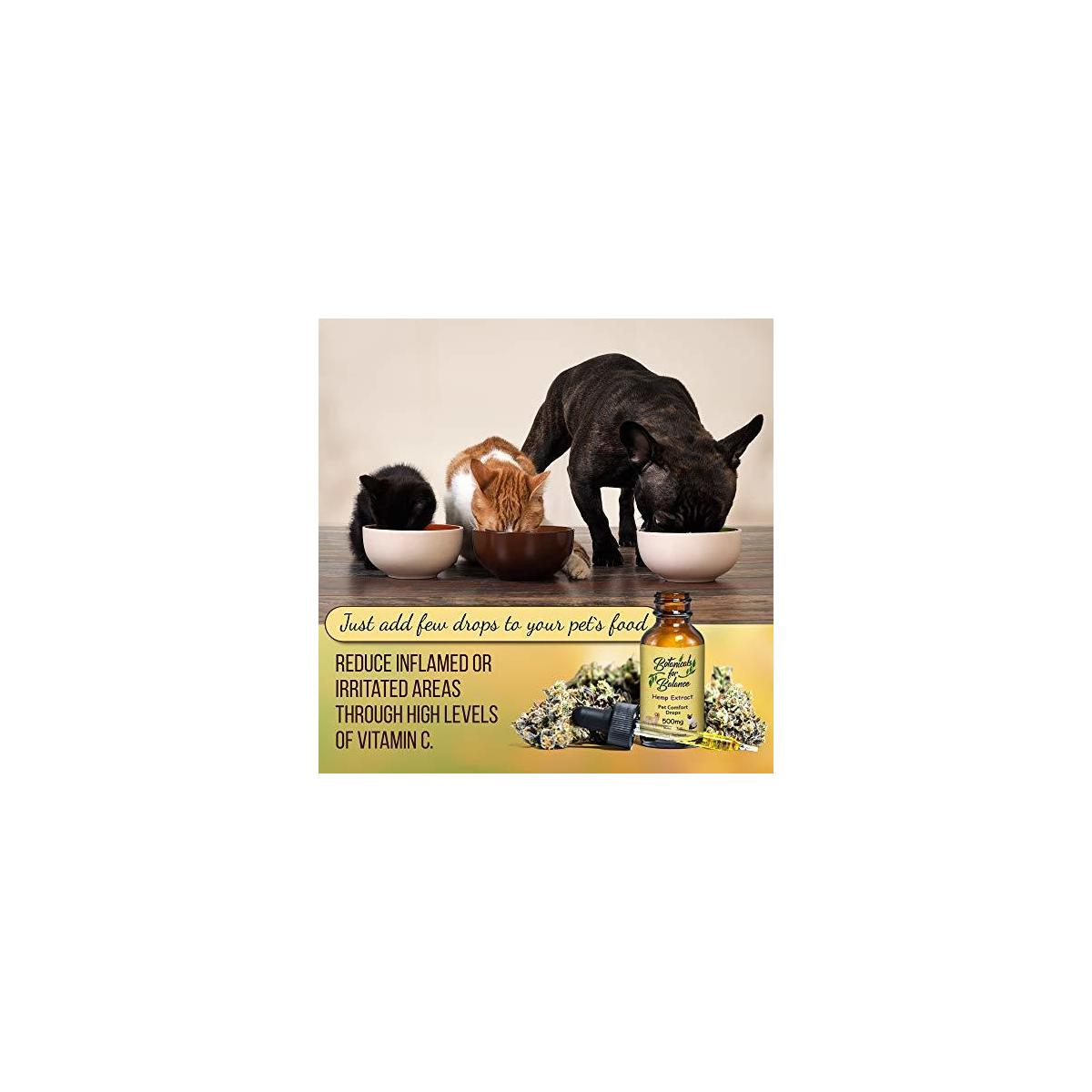 Botanicals for Balance Pet Drops Hemp Extract Supplements for Stress, Anxiety, Support Joints, Immune Function, Overall Wellness and Healthy Aging.