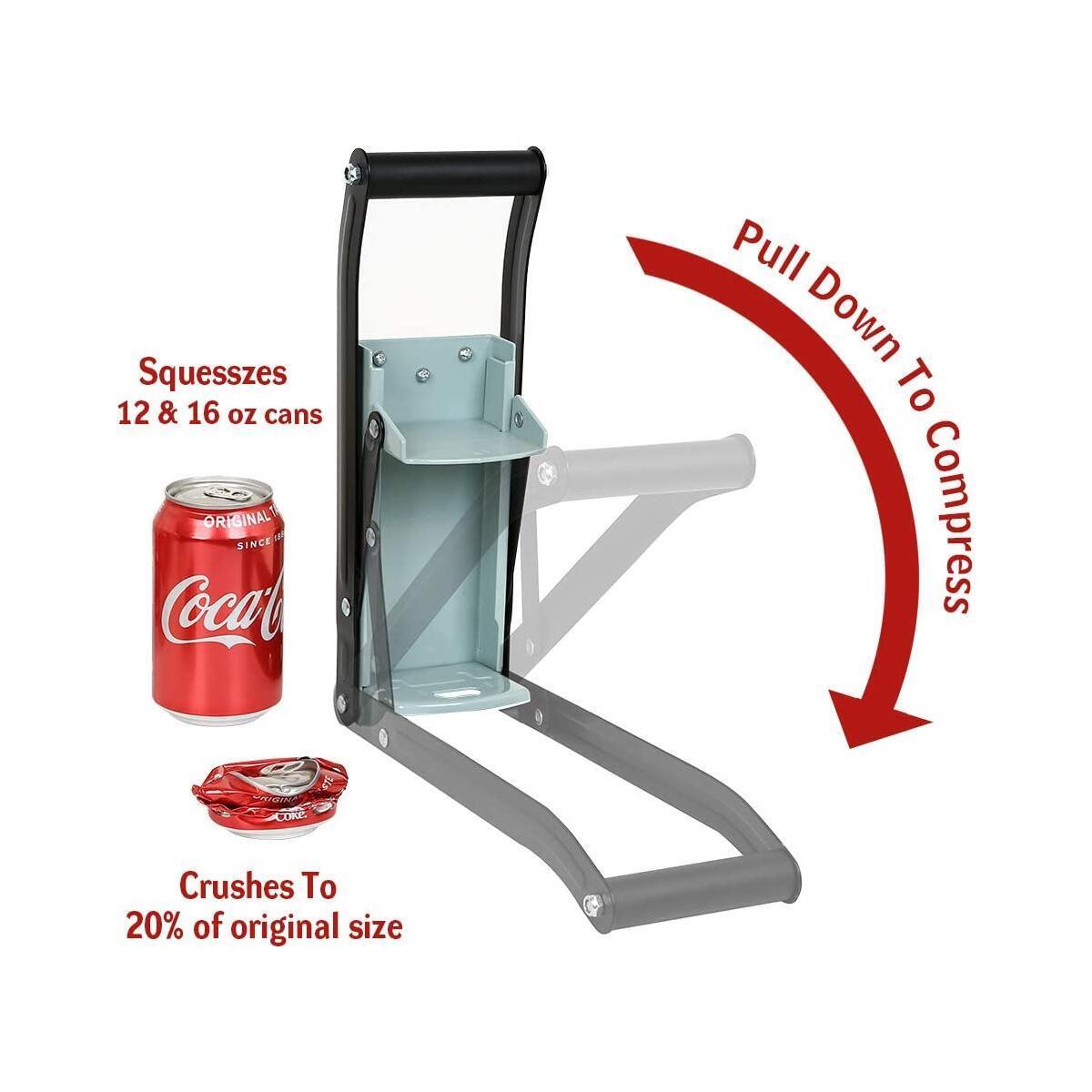 Metal Can Crusher/Smasher, Heavy Duty Wall Mounted Aluminium Can Crusher