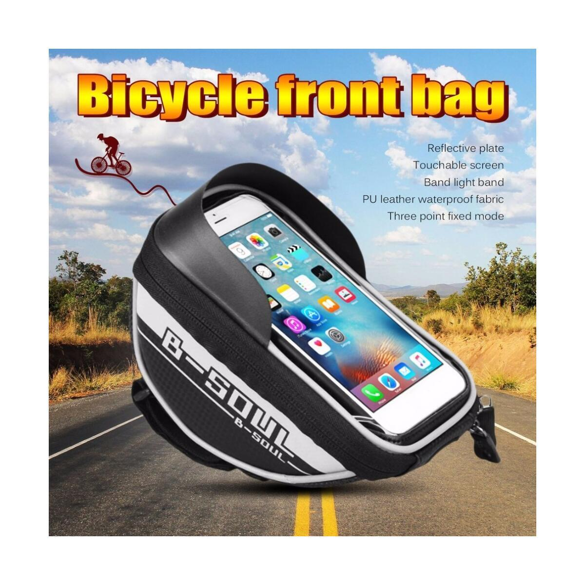 ibnBAQAR Bike Bicycle Handlebar Phone Front Frame Bag - Waterproof Bicycle Bikes Top Tube Cycling Phone Mount Pack | Phone Holder | Phone Case for 6.5'' iPhones