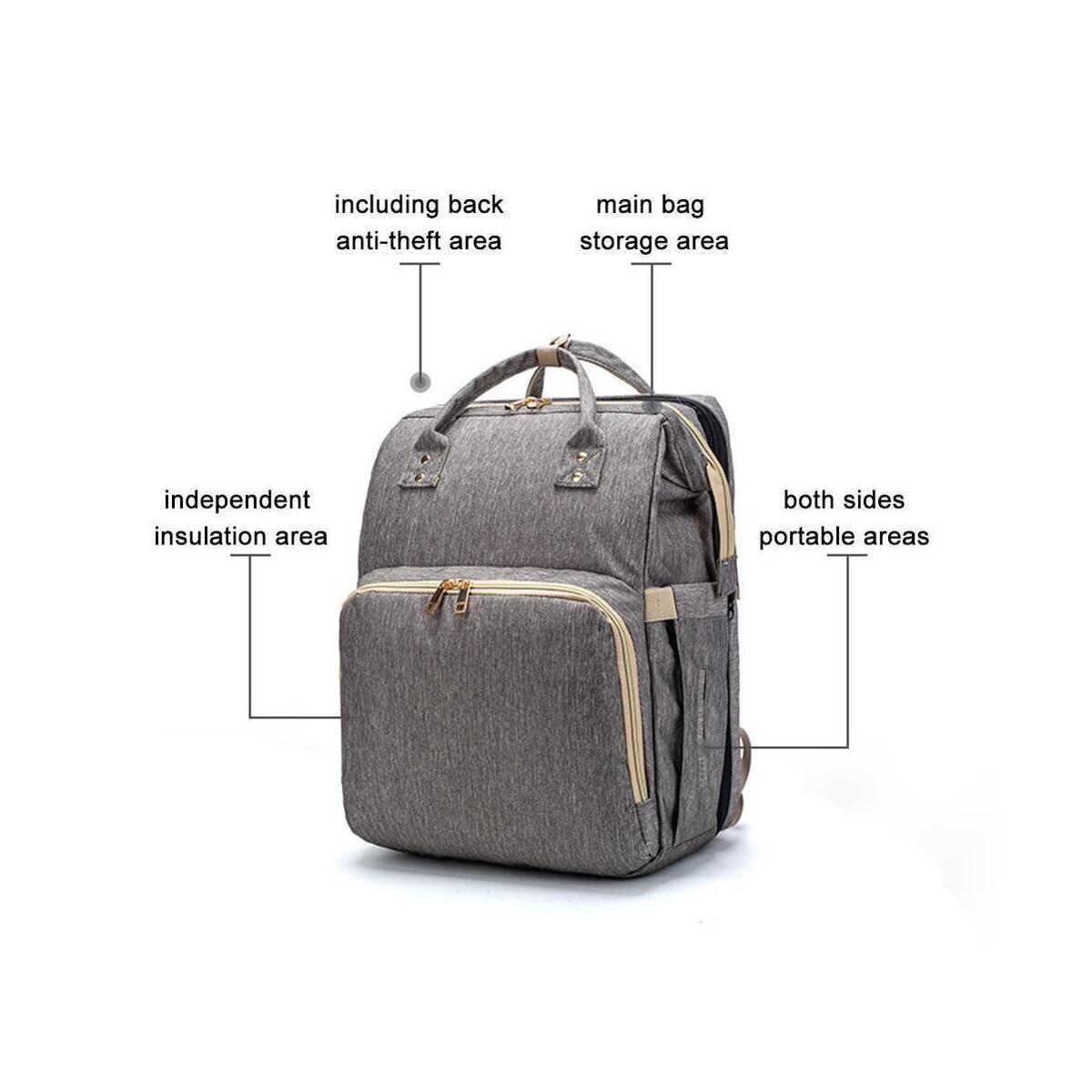 EXPANDING DIAPER TRAVEL BAG